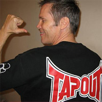 Get out of my gym. Can't you see I'm wearing a Tapout shirt?