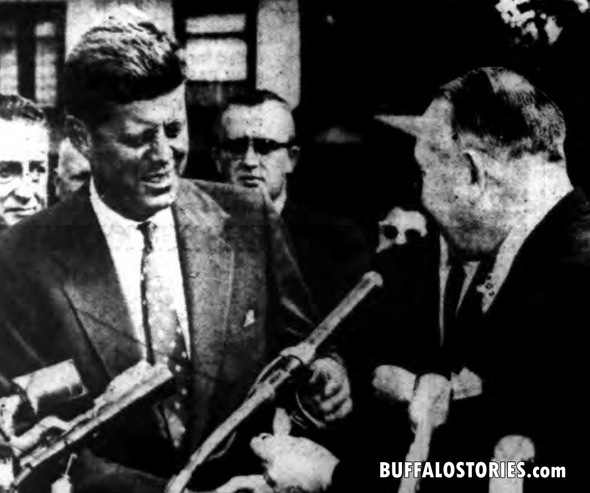 JFK with Niagara Falls Mayor Keller