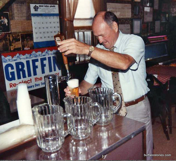 A true man of the people and a one-time gin mill owner, Mayor Griffin poured a fine beer...
