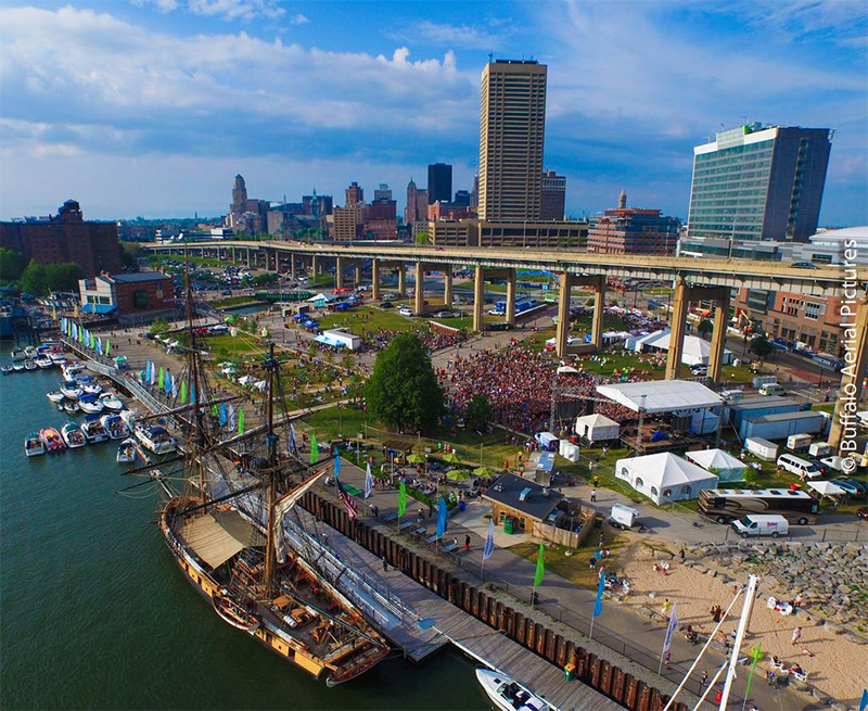 Canalside Drone Photo