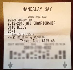 Buffalo Bills to Win the AFC at Mandalay Bay