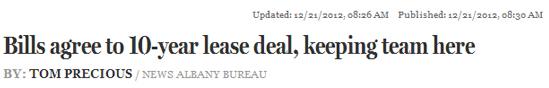 Bills lease headline