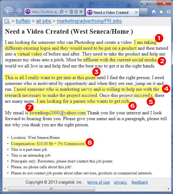 The Worst Job Posting On Buffalo Craigslist This Week
