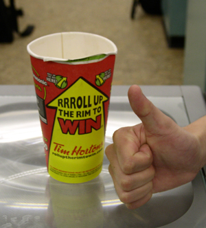 Roll up the rim to play again.