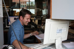Greg Bauch behind the WGR controls.