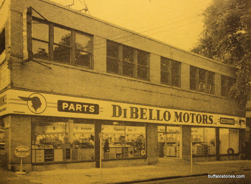DiBello Pontiac 1275 Main Street. Its facade is bricked over, but it still standing.