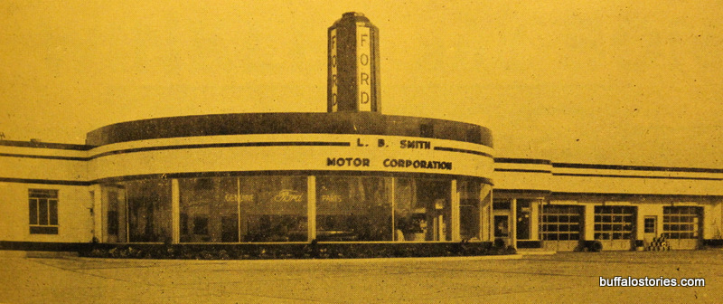 LB Smith Ford, 1212 Abbott Rd at City Line. Recently abandoned after years as a Ford dealership, the buildings still stand next to LB Smith Plaza, home of Hens & Kelly.
