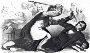 1856 caning of Senator Charles Sumner on the Senate floor.