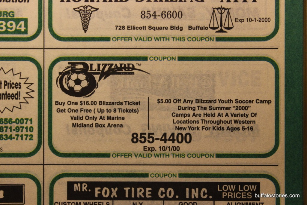 Yay! Coupon for Blizzard Soccer!