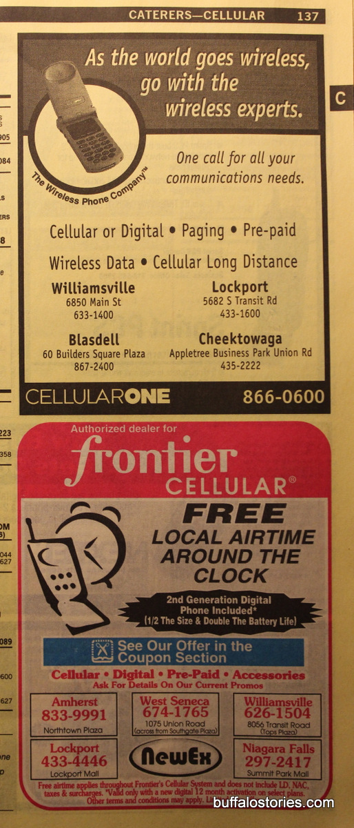 Were you a Frontier Cellular guy or a Cell One guy? Or did you still have a pager?