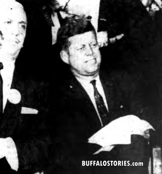 Buffalo Mayor Frank Sedita with JFK at the Aud.