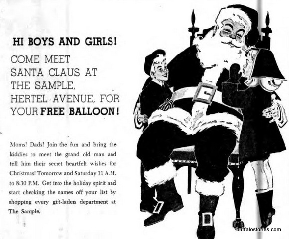 visit Santa at The Sample. Balloons are cheaper than candy canes, right?