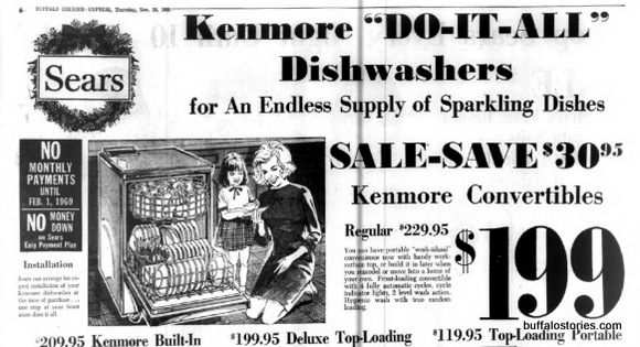 More 1960s retail misogyny: Look how happy the females of the house are with the automatic  dishwasher!