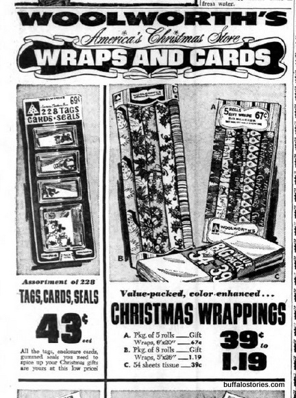 My mom might still have some of this Woolworth's wrapping paper