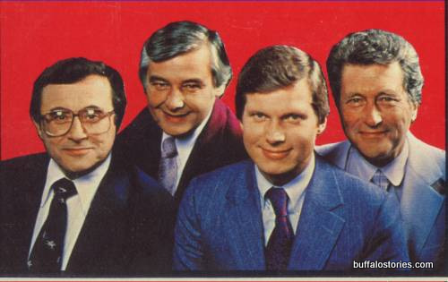 Irv Weinstein, Rick Azar, Don Postles, and Tom Jolls... The wide-tied Eyewitness News team c. 1980.