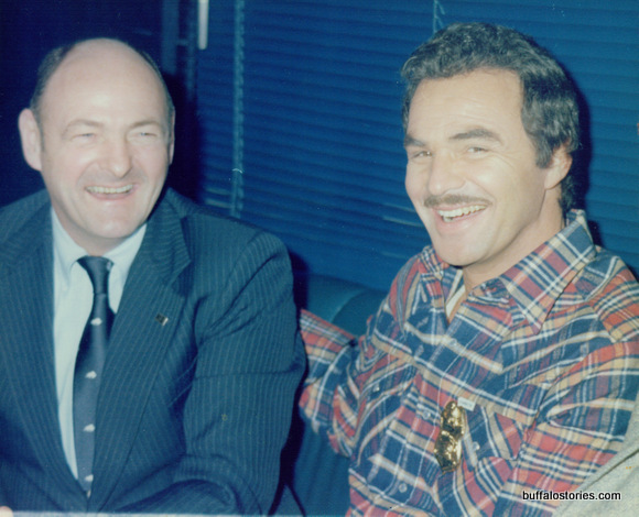 "Mayor Griffin with Burt Reynolds, when he was in town shooting ""Best Friends."""