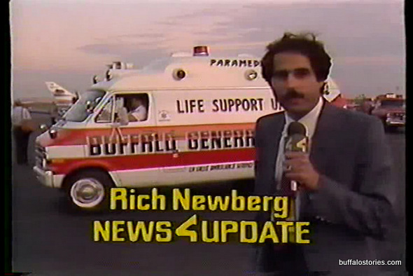Rich Newberg and an ambulance