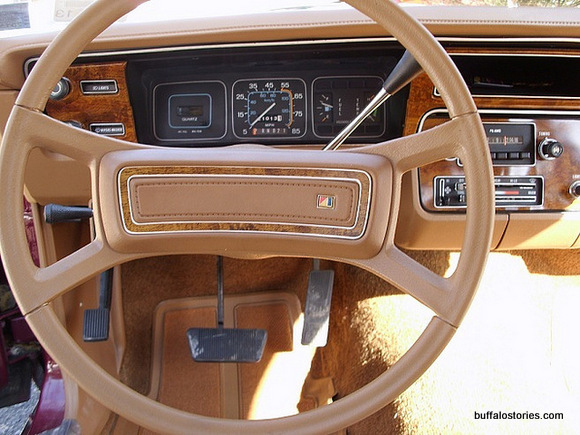 This is the exact interior of our 1981 Spirit. I hurt myself on the steering wheel playing Dukes of Hazzard, climbing in and out of the windows.