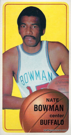 Worst ever sports card. Nate Bowman 1970-71 Topps Basketball. He only has 1.5 armpits.