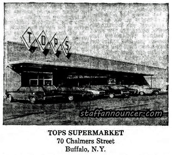 Tops, Chalmers Ave, Buffalo. Across the street from the Central Plaza