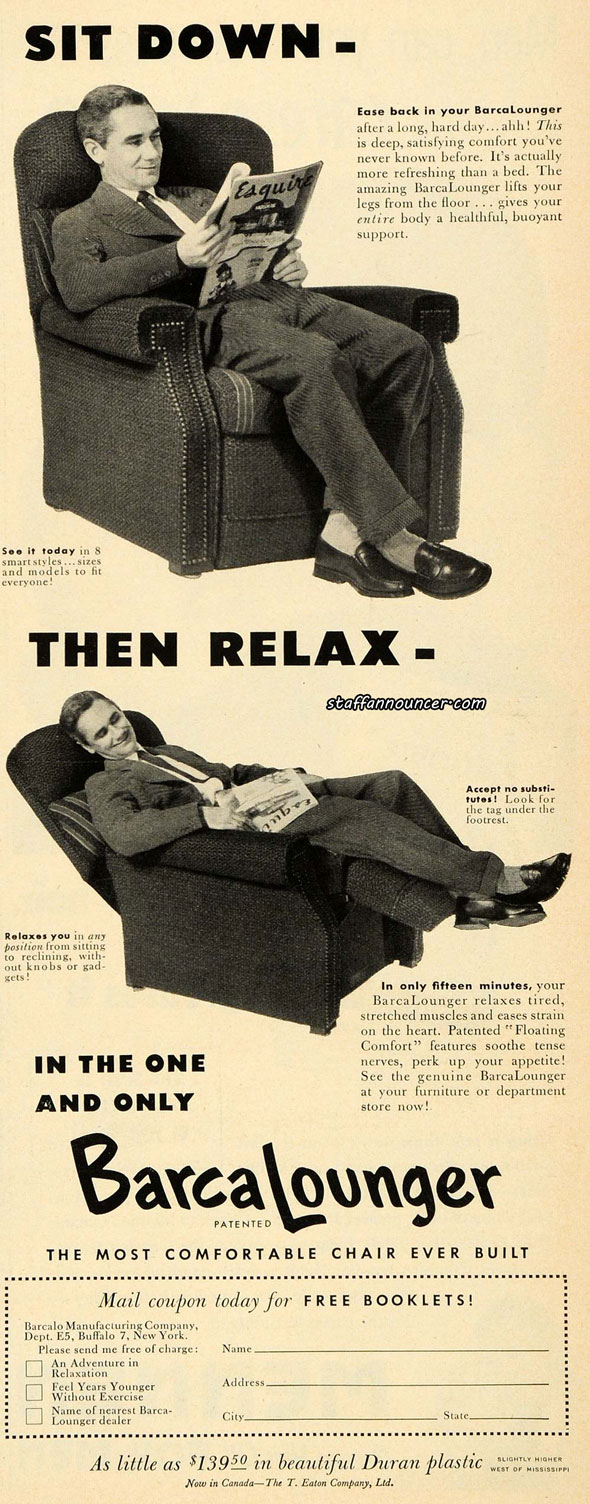 1952 Barcalounger ad