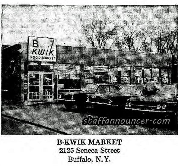 """B-kwik, Seneca St. This store was on the corner of Kingston Street. It moved to the current Tops location several years later when B-kwik took over several area """"Food Arena"""" stores."""