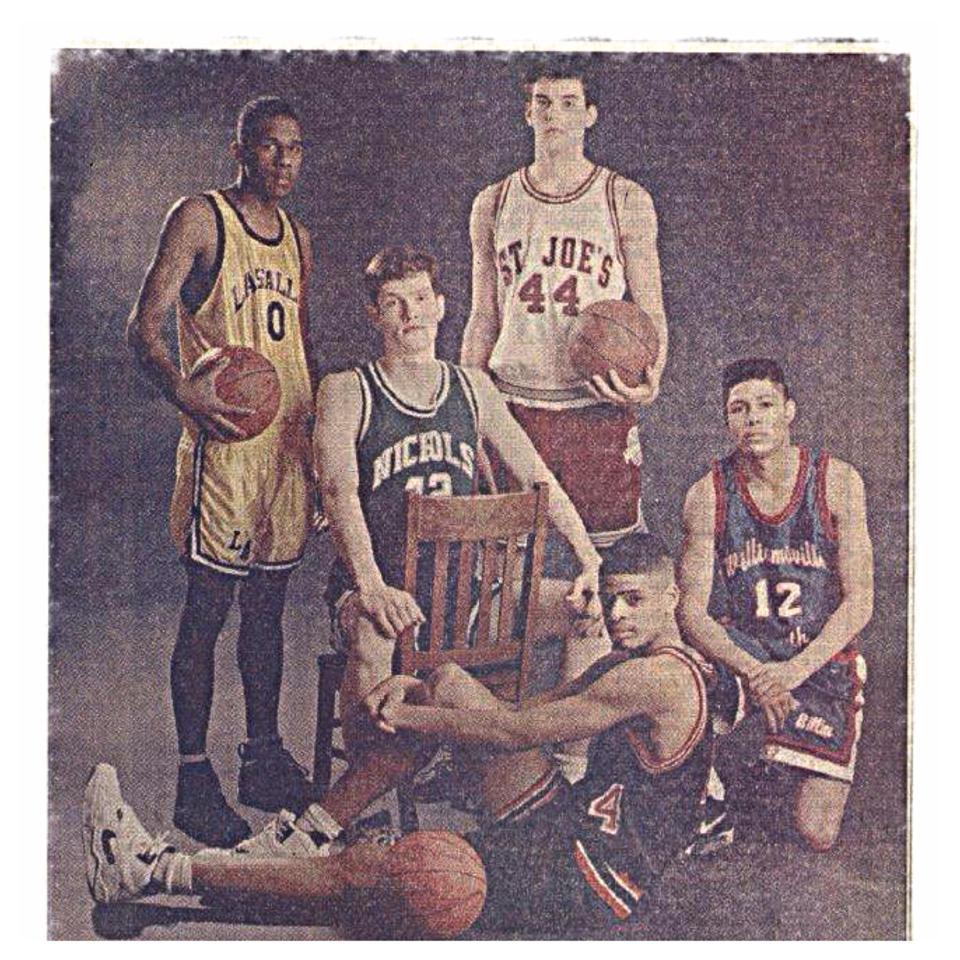 1991-1992 Buffalo News All-WNY team: *Eric Eberz (St. Joe's), Bob Fitzgibbons (Nichols), Kevin Sanford (Turner/Carroll), Mike Mitchel (Williamsville South), Carlos Bradberry (LaSalle)