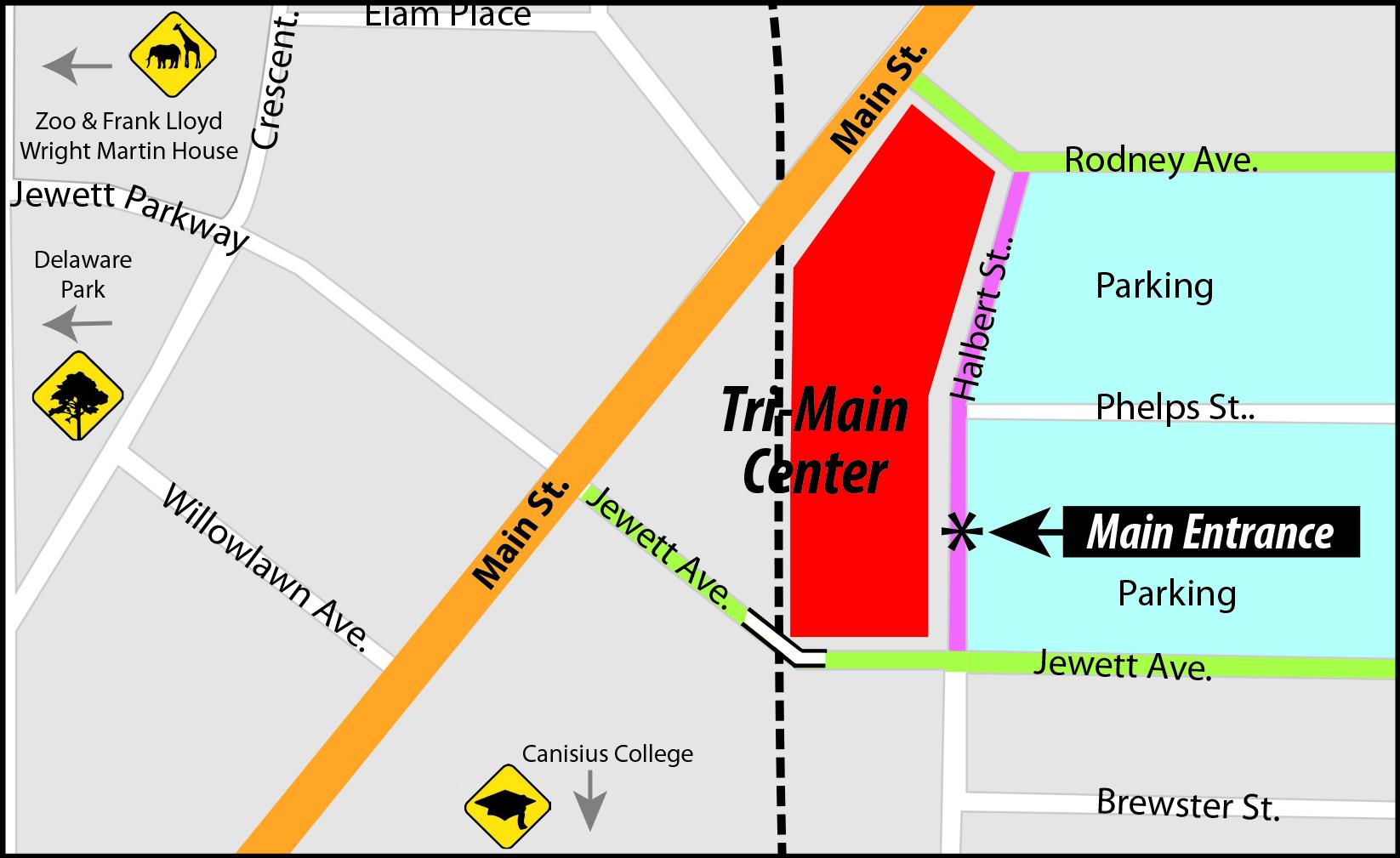 Tri-Main Map